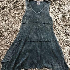 Vocal dress tunic gray medium cotton
